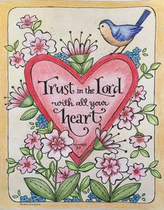 "My coloring page from the book ""Simple Blessings"" by Karla Dornacher"