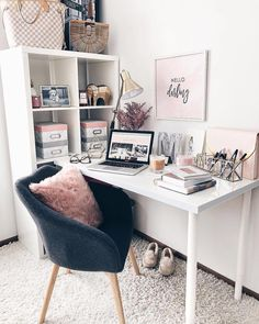 "26.3k Likes, 119 Comments - LIKEtoKNOW.it (@liketoknow.it) on Instagram: ""Finalize your Friday goals a la @fashionablykay's blush, girly, and chic all over desk setup 