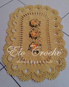 """Elo Crochê by Eloiza Castro: CAPACHO DE CROCHÊ """"LUXO"""""""
