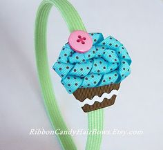 Cupcake Hairbows, perfect my little girl