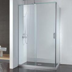 """45"""" x 31"""" Alva Corner Shower Enclosure With Sliding Door"""