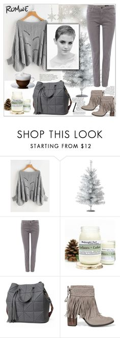 """Romwe"" by natalyapril1976 ❤ liked on Polyvore featuring Whiteley, AG Adriano Goldschmied, Schutz and Emma Watson"