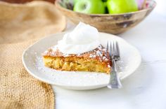 The Best French Apple Cake. A simple French buttery cake made with sweet apples and topped with freshly whipped cream. Best Chocolate Brownie Recipe, Chocolate Chip Banana Bread, Brownie Recipes, Dessert Recipes, Desserts, Chocolate Cube, French Bakery, French Pastries, Easy French Bread Recipe