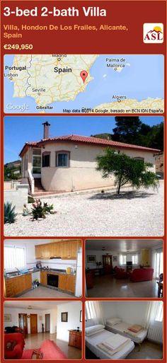 3-bed 2-bath Villa in Villa, Hondon De Los Frailes, Alicante, Spain ►€249,950 #PropertyForSaleInSpain