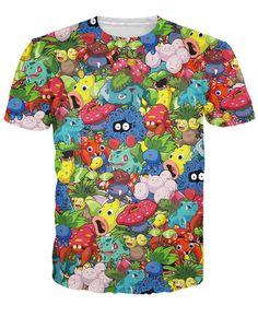 3ce28ca2 Pokemon Collage T-Shirt World of Ash #WorldOfAsh #PokemonGO #Pokemon T Shirt