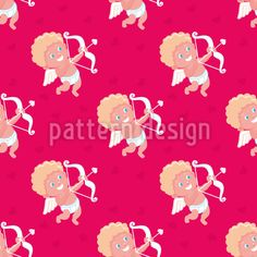Amor Designmuster by Daria Reznichenko at patterndesigns.com Vektor Muster, Surface Design, Gingerbread Cookies, Valentines Day, Snoopy, Romantic, Patterns, Fictional Characters, Amor