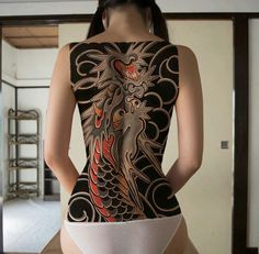 Yakuza Style – Dragon – Graffiti World Back Tattoos, Sexy Tattoos, Body Art Tattoos, Girl Tattoos, Sleeve Tattoos, Tattoos For Women, Arabic Tattoos, Tattoo Girls, Yakuza Style Tattoo