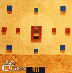 """Versos para el cielo"", Pedro Monje. Técnica mixta. Dimensiones: 150 x 150 cm"