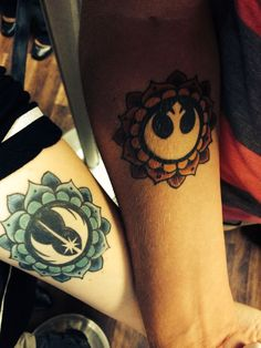 star wars couples tattoo - Google Search