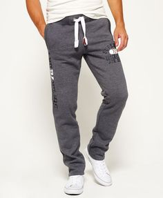 faf78e871e8b slate grey grindle Superdry Trackster Non Cuffed Sweatpants  menstyle   clothes Cuffed Joggers, Mens