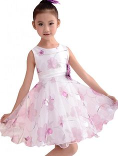 Kids Clothing Purple Flower Layers Tulle Princess Wedding Girls Dress SZ 3-8 Y #SunnyFashion #Holiday: