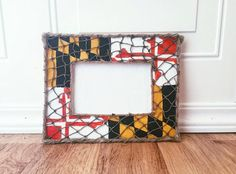 Maryland Flag Picture Frame by TidalBayTreasures on Etsy