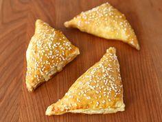 Potato Cheese Bourekas made with puff pastry