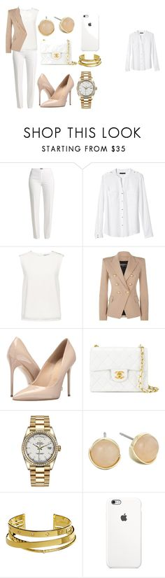 """""""work queen"""" by ghadeer-tarek on Polyvore featuring Basler, Banana Republic, Finders Keepers, Balmain, Massimo Matteo, Chanel, Rolex, Cole Haan and Elizabeth and James"""