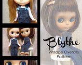 Blythe Vintage Overalls PDF Pattern- Clear Images, Easy Instructions