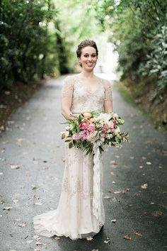 Beaded V-Neck Jenny Packham Dress | Brides.com