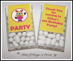 Tic Tac Labels #Minion #Minions #Despicable #Me #Cute #Girl #Pink #Birthday #Bunting #Party #Decorations #Ideas #Banners #Cupcakes #WallDisplay #PopTop #Juice #Water #Labels #PartyBags #Invites #KatieJDesignAndEvents #Personalised #Creative