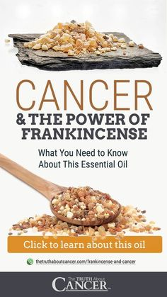 FRANKINCENSE BENEFITS: Frankincense, also known as olibanum, has been used for thousands of years and is a popular type of essential oil used to help: fight disease-causing inflammation, support heightened immunity, relieve chronic stress, reduce pain, prevent dangerous infections, reduce the signs of aging and improve overall beauty, decrease the appearance of scars. Click on the graphic above to discover more about Frankincense Essential Oil and Cancer.