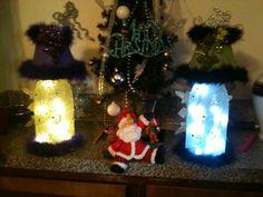 My wine bottle lamps