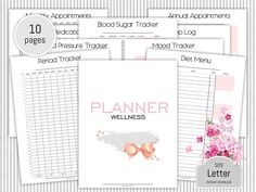 Finance planner printable expense tracker budget planner monthly health planner wellness journal doctor appointment sleep log mood tracker mental health journal diet menu printable malvernweather Image collections