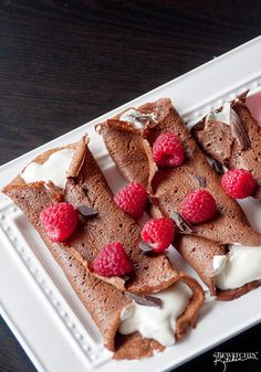 Healthy Chocolate Crepes(leave off the banana so it won't be xo or make with egg whites)