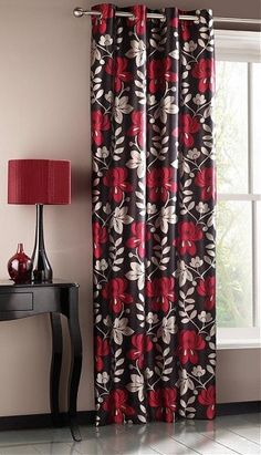 A bold modern floral which will be a statement to any interior  #home #curtain #interior
