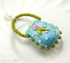 Image result for lampwork beads shaped like purses