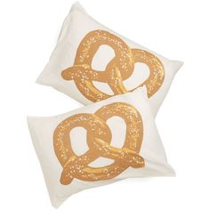 ModCloth Food Snack Nap Pillowcase Set ($11) ❤ liked on Polyvore featuring home, bed & bath, bedding, bed sheets, food, interior design, white bedding, white pillowcases, patterned bedding and white pillow cases