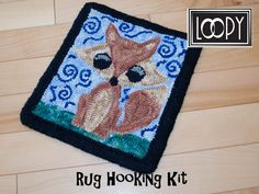Whimsical Fox Rug Hooking Kit by LoopyWoolSupply on Etsy Rug Hooking Kits, Rug Hooking Patterns, Fox Crafts, Easy Crafts, Craft Kits, Diy Kits, Whimsical, How To Draw Hands, Stitch