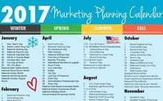 Ultimate 2017 Marketing Planning Calendar