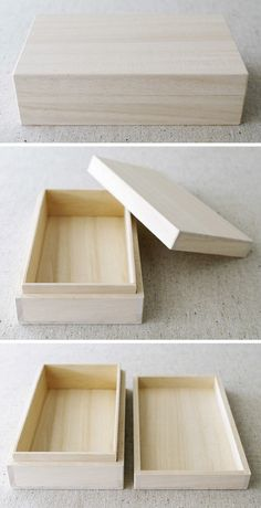 Wooden gift box JAPANESE STYLE C TYPE by karaku on Etsy, ¥1000