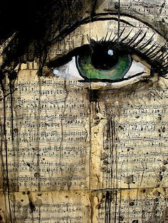 loui jover   This suggests disorder where the eye cries on the pages of a book that could possibly be the story of your life in which case suggests a lot of tragedies. The tears just smudge the words that put the book together making it incomplete.