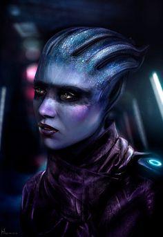 Pelessaria B'Sayle (Peebee from Mass Effect Andromeda) portrait by Hidrico.deviantart.com on @DeviantArt