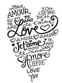 this fits me perfectly . I love you in french or spanish just sounds so romantic Te amo The Words, All You Need Is Love, My Love, I Love You Notes, For You, I Love Heart, Heart Type, Love Heart Images, Love Languages