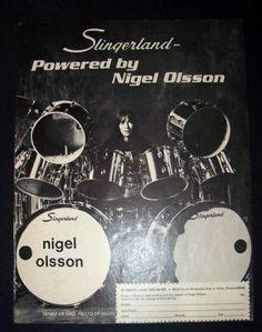Nigel Olsson Elton John Slingerland Drums 1975 Small Poster Type Advert Promo Ad | eBay