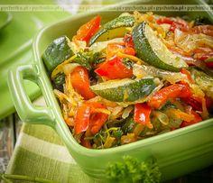 Marynowane warzywa z grilla Japchae, Pasta Salad, Grilling, Cooking, Ethnic Recipes, Kitchen, Food, Polish, Table