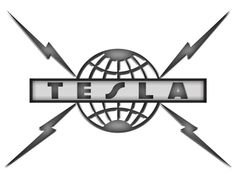 Logo for 80's hard rock band Tesla.