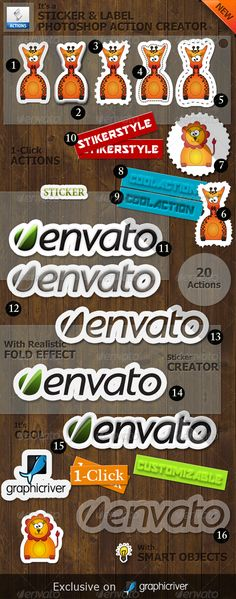 Sticker and Label Photoshop Action Creator  #stamp effect #stick-it #sticker • Available here → http://graphicriver.net/item/sticker-and-label-photoshop-action-creator/4454463?s_rank=238&ref=pxcr