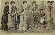 Women And Girls In Dresses, France, 1880s.] From New York Public Library Digital Collections.