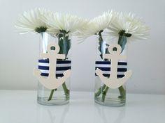 Nautical Centerpiece Glass Vase  12 units Custom by MadebyKrizia