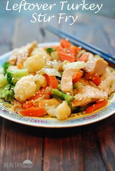 Leftover Turkey Stir Fry | Healthy Recipes Blog great for after the holidays!