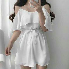Korean Fashion Dress, Kpop Fashion Outfits, Girls Fashion Clothes, Korean Street Fashion, Ulzzang Fashion, Korean Outfits, Asian Fashion, Fashion Dresses, Skater Fashion