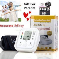 디지털 어퍼 팔 혈압 펄스 모니터 안압계 휴대용 건강 bp 혈압 모니터 미터 혈압계