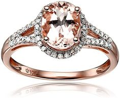 10k Rose Gold Morganite and Diamond Oval Halo Engagement Ring (1/5cttw, H-I Color, I1-I2 Clarity), Size 7, http://www.amazon.com/dp/B014XMNA52/ref=cm_sw_r_pi_awdm_OGZLwbN1XB505