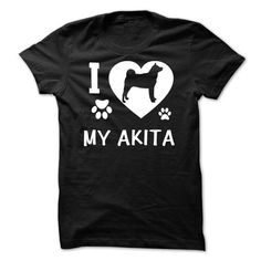 I Love My Akita T-Shirts, Hoodies ==►► Click Image to Shopping NOW!