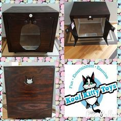 Kool Kitty Toys Litter Box Holder Kat-binet - just delivered to an Amazing customer!!!  All handmade by Disabled Veterans and Made in the USA!!!  We will custom build and design them to fit your style and decor!!  Please call us at 315-209-5444 or toll free 1-844-CAT-TOYS or Email us at koolkittytoys@gmail.com  #dog #cat #DC #MD #VA #cats #kitties #kittens #pets #animal #catsofinstagram #catsoftwitter #kitty #koolkittytoys #teamcatmojo #branding #cattree #cattower #chicospetdepot #catlitter
