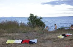 Summer at Lake Taupo, New Zealand. Photo by of Picnic Blanket, Outdoor Blanket, Bitter Greens, Green Grass, Deep Blue, New Zealand, Places, Summer, Blog