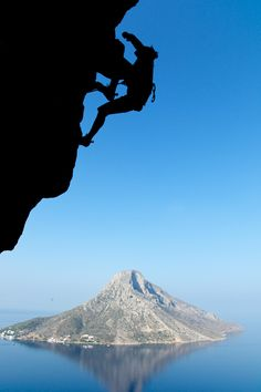 "house-under-a-rock: "" Heidi Wirtz dancing up the rock in Kalymnos, Greece "" Greek Sea, Beautiful Places, Beautiful Pictures, Beautiful People, Escalade, Seen, Adventure Is Out There, Greek Islands, Rock Climbing"