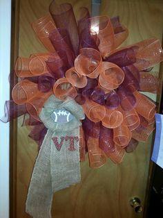 Virginia Tech wreath