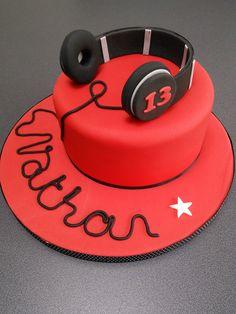 Headphones birthday cake